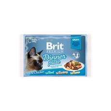 Brit Premium Cat D Fillets in Gravy Family Plate 340g