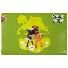 Ovečka Shaun prostírání pod misky,zelená s postavami 44x28cm - DOPRODEJ
