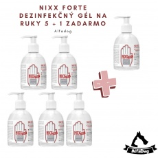 NIXX FORTE dizinfekční gel na ruce s dávkovačem 250ml 5 + 1 ZADARMO