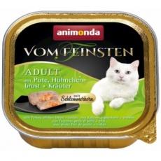 V.Feinsten CORE krůta, kuřecí prsa + bylinky pro kočky 100g