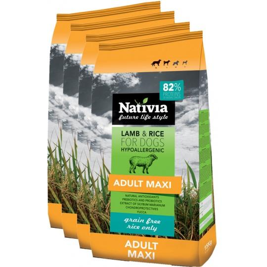 NATIVIA Adult Maxi Lamb & Rice 15 kg