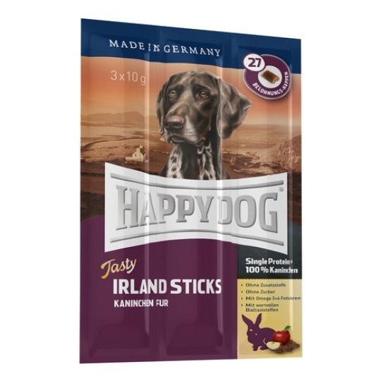 Happy Dog Supreme Tasty Irland Sticks 3 x 10g Králik