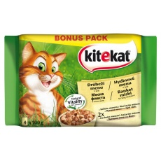 KITEKAT kapsička cat Hydinové menu 24 x 100 g