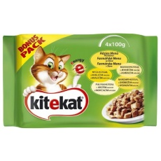 KITEKAT Kapsička Cat Farmárske menu 4 x 100 g