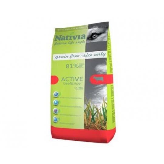 NATIVIA Active Beef & Rice 15 kg