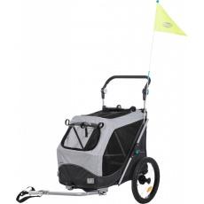 Trixie Vozík pre psa za bicykel s funkciou rýchleho  skladania M 63 x 95 x 90/132 cm šedý