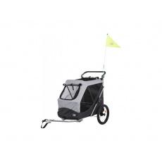 Trixie Vozík pre psa za bicykel s funkciou rýchleho  skladania L 74 x 95 x 103/143 cm šedý