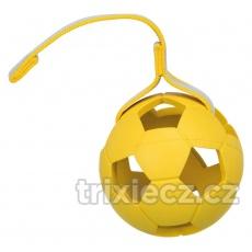 SPORTING lopta s dieram na páske, prírodná guma 11 cm/30 cm