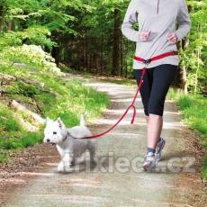Pás na běh s nylonovým vodítkem pro malé a střední psy 60–130 cm/ 25 mm, vodítko: 1,20 m/ 15 mm