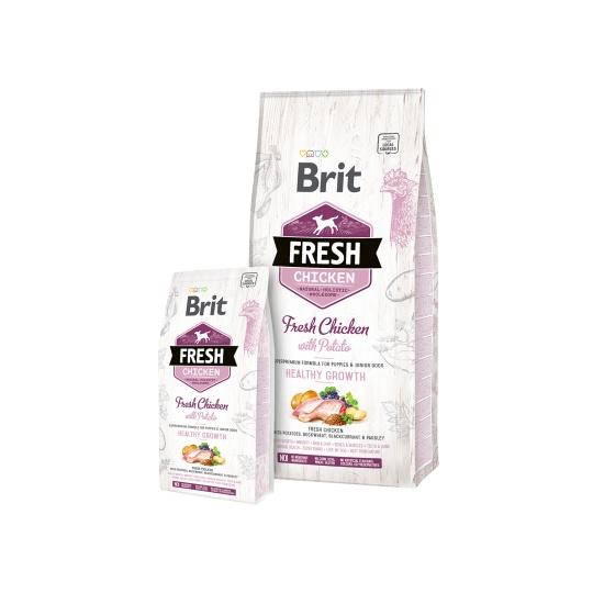 Brit Fresh Dog Chicken & Potato Puppy Healthy Growth 12kg