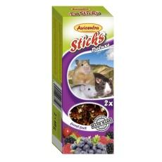 Avicentra Tyčinky deluxe s lesným ovocím pre škrečky, potkany a myši ( 2 ks) 120 g