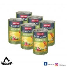 Animonda GRANCARNO Superfoods kura, špenát, maliny, dyňové semienka 6x400 g