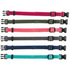 Balení nylon.rozeznávacích obojků pro štěňata S-M 17-25cm/10mm,malin,šedá,mod,khaki,růž,tyrkys