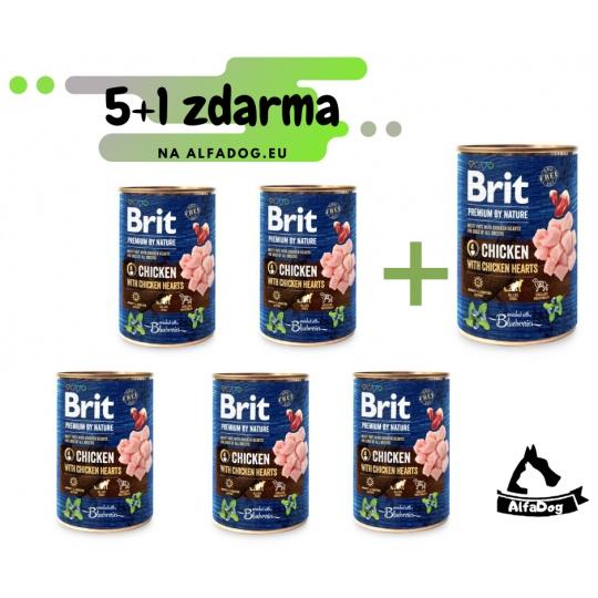 Brit Premium Dog by Nature konz Chicken & Hearts 400g
