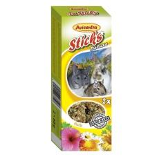 Avicentra Tyčinky deluxe s bylinkami pre králíkov, osmákov a dalšie hlodavce ( 2ks ) 120 g