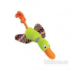 Kačka ležiaca 33 cm, plyš / bavlny, HipHop