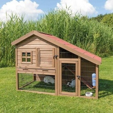 Natura dřevěný dům s výběhem pro králíky 151x107x80 cm