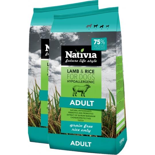 NATIVIA Adult Lamb & Rice 15 kg