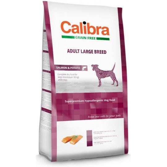 Calibra Dog GF Adult Large Breed Salmon & Potato 12 kg