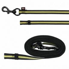 SPORTING FUSION tréninkové vodítko S-L 2 m/17 mm černo/žluté - DOPRODEJ