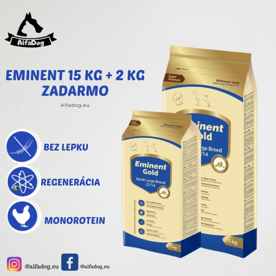 Eminent Gold Adult Large Breed 15 kg + 2 kg ZADARMO