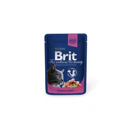 BRIT Premium cat Kapsička Adult Chicken & Turkey 24 x 100 g