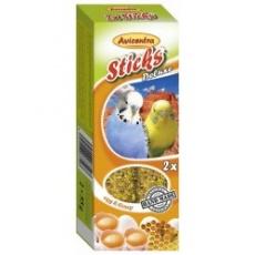 Avicentra Tyčinky deluxe s vajcom  a medom pre andulky ( 2 ks) 110 g