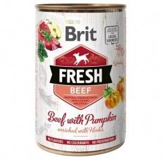 Brit Fresh Dog konzerva Beef with Pumpkin 400 g