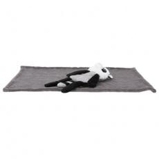 Dárková deka s plyšovým mývalem, 75 x 50cm, šedá - DOPRODEJ
