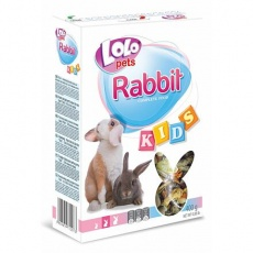 LOLO KIDS kompl. krmivo pro králíky 3-8 měs. 400g krabička