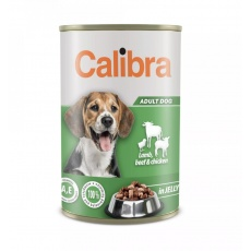 Calibra Dog konz.Lamb,beef&chick. in jelly 1240g NEW