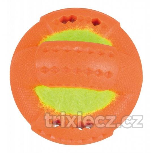 Krúžek s tenisovou loptou TPR 9 cm, termoplastová guma