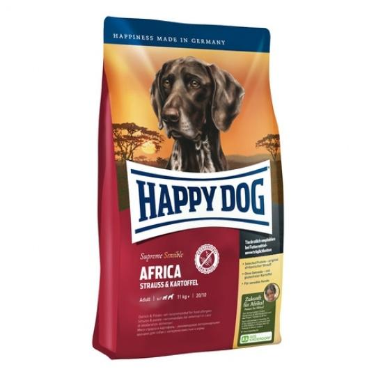 Happy Dog Supreme Sensible  AFRICA Pštros & Zemiaky 12,5 kg + DOPRAVA ZADARMO