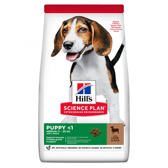 Hill's Science Plan MEDIUM PUPPY FOOD with LAMB 14 kg