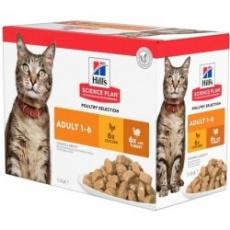 Hill's Feline Adult Kura + Morka 12 x 85 g