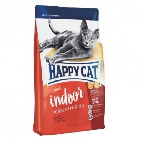 Happy Cat Adult Indoor Voralpen-Rind 10  kg  + DOPRAVA ZADARMO