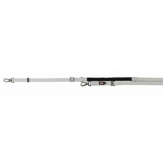 Vodítko EXPERIENCE s tlumičem tahu L-XL 1,20-1,40m/25 cm - stříbrné - DOPRODEJ