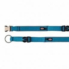 Obojek EXPERIENCE extra široký M-L 37-50 cm/30 mm,  - modrý - DOPRODEJ