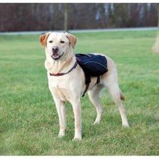 Ruksak na záda pro psa L 29x15 cm, černý - DOPRODEJ