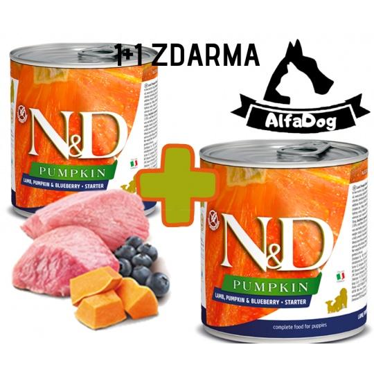 N&D Dog Pumpkin Adult Lamb & Blueberry 285 g  1 + 1 ZDARMA