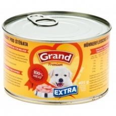 Grand Premium Kuracie kúsky pre šteňatá 405g