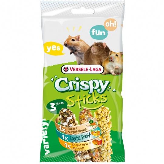 Versele Laga Crispy Sticks Omnivores Tri príchuťe 3 ks 165 g