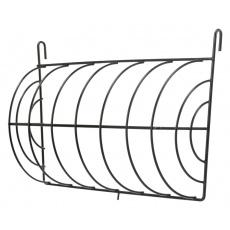 Jesličky na seno kulaté uzavřené, zavěšovací, 25x15cm, lakovaný kov -