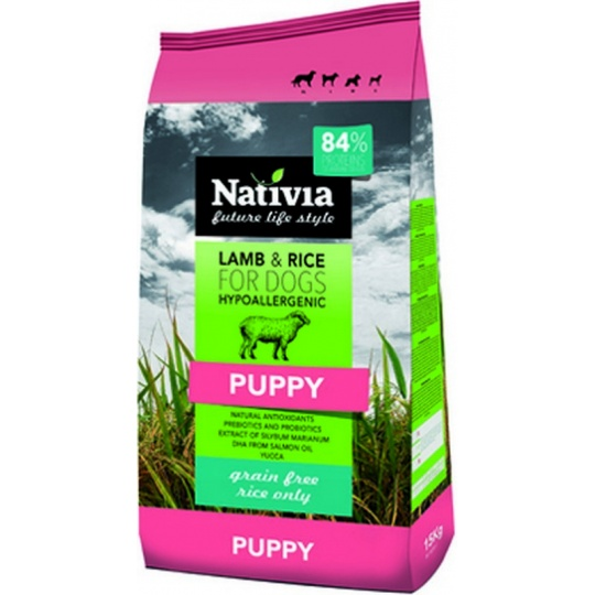 NATIVIA Puppy Lamb & Rice 15 kg