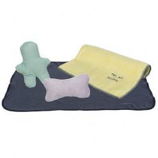 JUNIOR souprava (flísová deka 76x50cm, 2 hračky, ručník 50x40cm) - DOPRODEJ