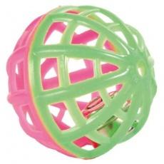 Sada 3 ks plastových míčků s rolničkou 3,5-4 cm