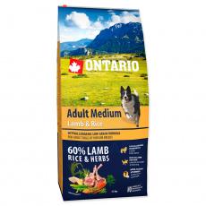 Ontario Adult Medium Lamb & Rice 12 kg