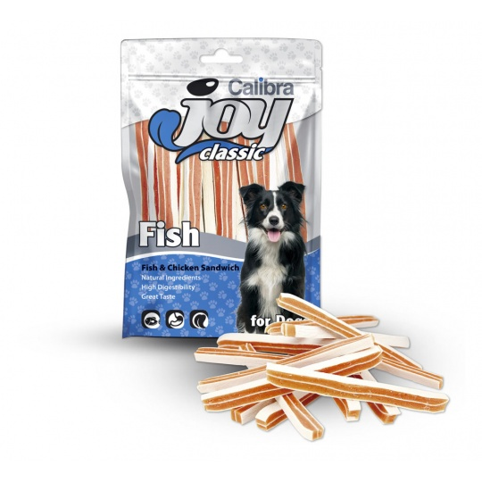 Calibra Joy Dog Classic Fish & Chicken Sandwich 80g NEW
