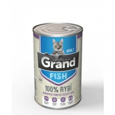 Grand Deluxe Cat 100% Ryba Adult 6 x 400 g