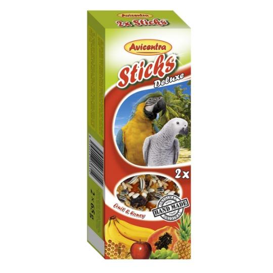 Avicentra Tyčinky deluxe s ovocím a medom pre veľkých papagájov ( 2 ks) 130 g